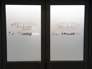 Window Etching - Tint Studio